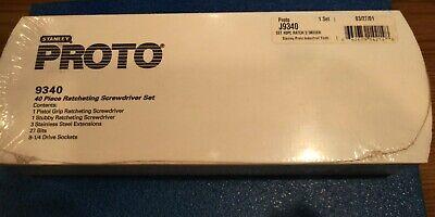 Proto 9340 40pc Ratcheting Screwdriver Set
