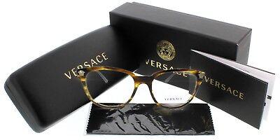 - Versace Women's Tortoise MIB eyeglasses metal plastic MOD 3242 5202 54mm