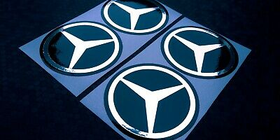 Mercedes Radnabenkappen Radnabendeckel 65 mm Aufkleber Folie Sticker Chrom