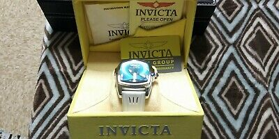 Invicta Grand Lupah 21330 Mens Special Edition Powder Blue Dial Watch White Band