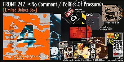 FRONT 242 No Comment / Politics Of Pressure (Deluxe Anniversary Box) 2LP+3CD