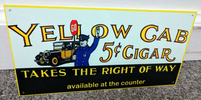 Yellow Cab Cigars tobacco Sign