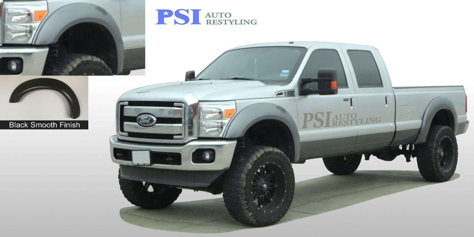 2016 F350 Super Duty >> Black Paintable Extension Fender Flares 11-16 Ford F-250, F-350 Super Duty 4pcs | eBay
