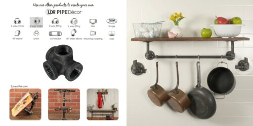 LDR™ Pipe Décor™ Industrial Steel Grey ½ Inch Side