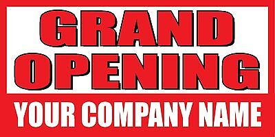 3x6 Grand Opening Custom Company Name Banner Sign
