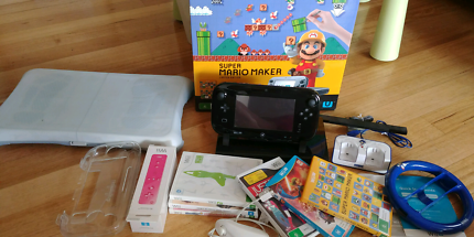 Wii U premium set with games in original box