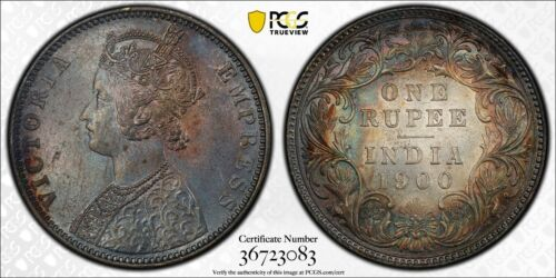 1901 Straits Settlements 10 Cents KM#11 PCGS MS64