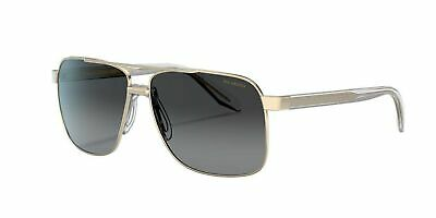 Versace Mens Sunglasses (VE2174) Pale Gold/Grey, Polarized (Versace Sunglasses Polarized Mens)
