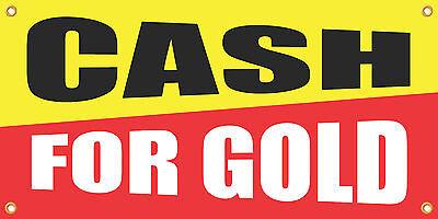 Cash For Gold 2x4 Vinyl Retail Banner Sign