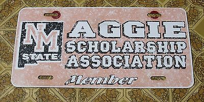23 - NEW MEXICO STATE UNIVERSITY AGGIE SCHOLARSHIP ASSOCIATION MEMBER PLATE