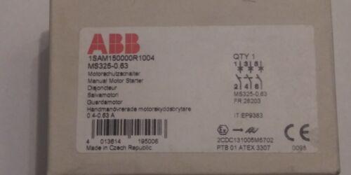 ABB 1SAM150000R1004 MS325-0.63 Manual Motor Starter