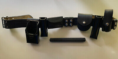 Safariland Police Security Belt Mdl 87 3690 3499 Bundled With Baton Holsters