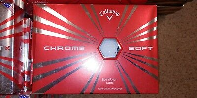Callaway Chrome Soft Golf Balls  New in Box 2 dozen FREE PRIRITY SHIPPING