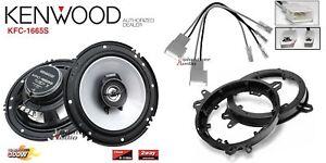 Kenwood KFC-1665S 6.5 Speakers + 1 Pair Front Adapters + Harness