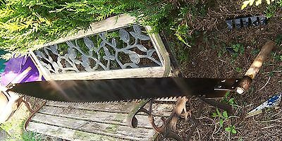 Vintage/antique extra long two man crosscut saw 82.1/2