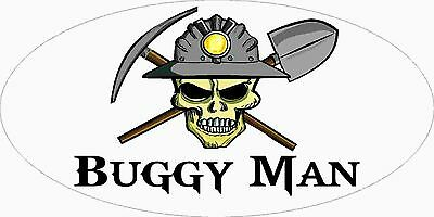 3 - Buggy Man Miner Skull Mining Tool Box Hard Hat Helmet Sticker Wv H399