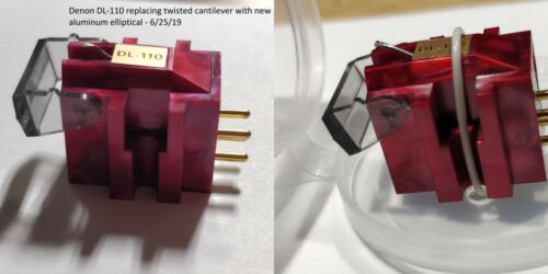 Phono Cartridge Retipping Service. Aluminum Elliptical Stylus