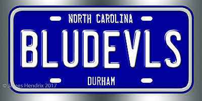 Duke University Blue Devils Durham North Carolina NCAA License (Duke Blue Devils License Plate)