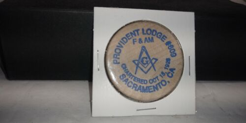 COLLECTIBLE WOODEN NICKEL TUIT PROVIDENT LODGE #609 SACRAMENTO CA