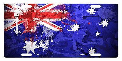 Australia Flag License Plate - AUSTRALIA Flag Custom License Plate Commonwealth Star Emblem Paint Version