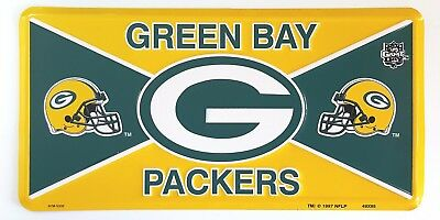 Green Bay Packers Metal License Plate NFL Football Team Officially Licensed  Metal Team Plate