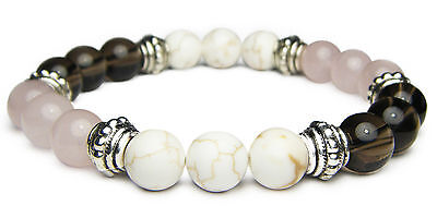 POSITIVE THOUGHTS 8mm Crystal Intention Bracelet w/Description - Healing Stone