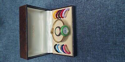 Vintage Original, Boxed Set Authentic GUCCI 1100-L timepiece Collection, NICE