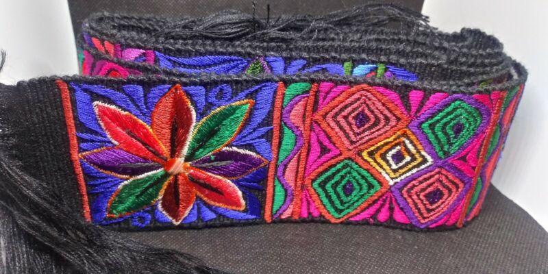 Vintage Guatemala Handwoven Faja Belt Quiche