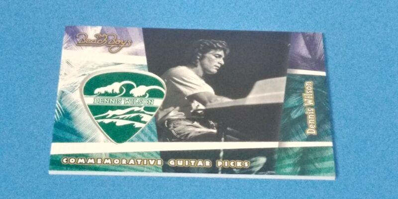 2013 Beach Boys Dennis Wilson Guitar Pick #19 Panini Commemorative Mint Shelf Z3