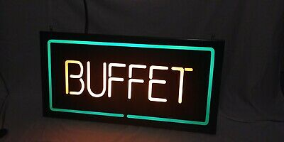 Buffet Indoor Electric Lighted Sign With Switch
