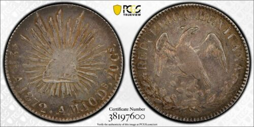 M019 MEXICO. 2 Reales, 1872-A AM. Alamos Mint. PCGS XF45.