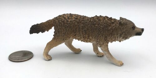Schleich GROWLING GREY WOLF Wildlife figure 2014 Retired Wolves 14741