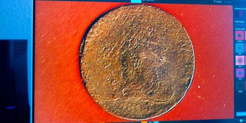 1804 DRAPED BUST HALF CENT,216 YEARS OLD,(2305)