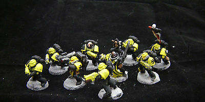 Warhammer 40K Space Marine Tactical  Marine squad   painted table ready
