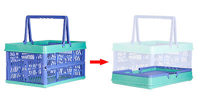 Cart-buddy 31 Liter Collapsible Folding Shopping Bin Carry Basket Tote Handle