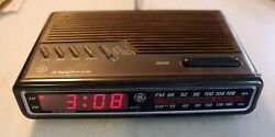WORKS: GE Digital Alarm Clock Radio: LCD AM/FM: 7-4612A