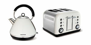 Morphy Richards Accents Kettle And Toaster Set In White S/Steel 102005 / 242005