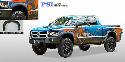 Used, Black Textured Pocket Rivet Bolt Fender Flares 05-11 Dodge Dakota Crew Cab Only for sale  Shipping to Canada