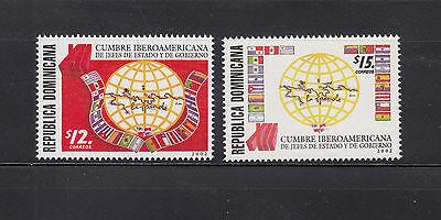 Dominican Republic 2009 IberoAmericano Sc 1388A-1389A  mint never hinged