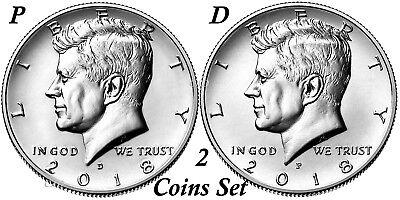 Clad Half Dollars - 2018 Kennedy Half Dollars 2 coins set P + D Clad President 50¢ coin US Mint