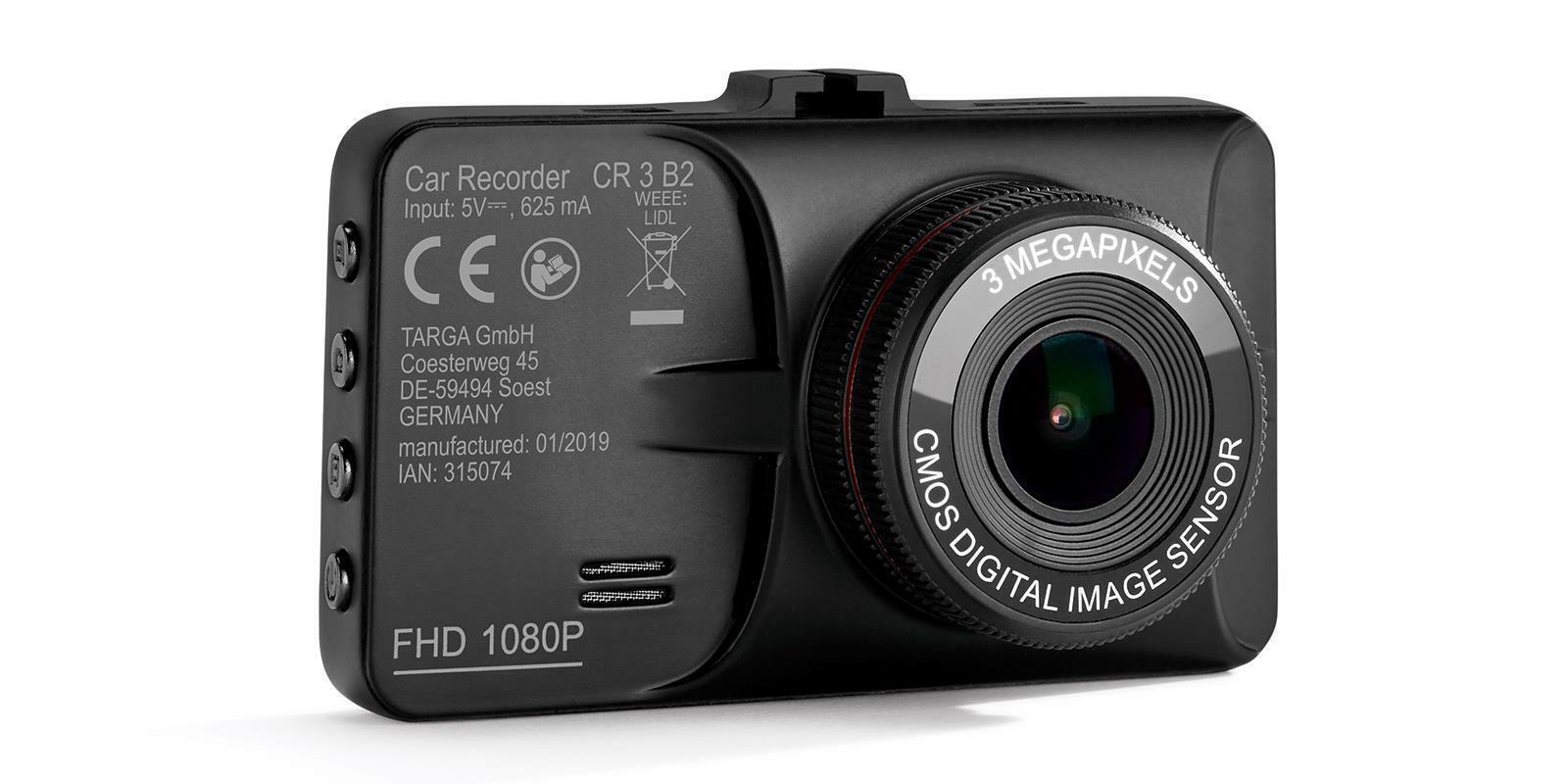 Auto Cockpit Recorder Li-Ion Akku Full HD 3MP CR 3 B2 Dashcam Autokamera NEU