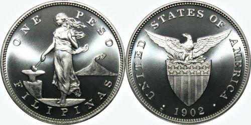 1902-S US-Philippines Peso ~ PROOF-LIKE Overstrike ~ Daniel Carr Moonlight Mint