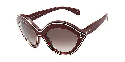 Valentino Red Frame/Brown Lens Cat Eye 54mm Sunglasses NEW