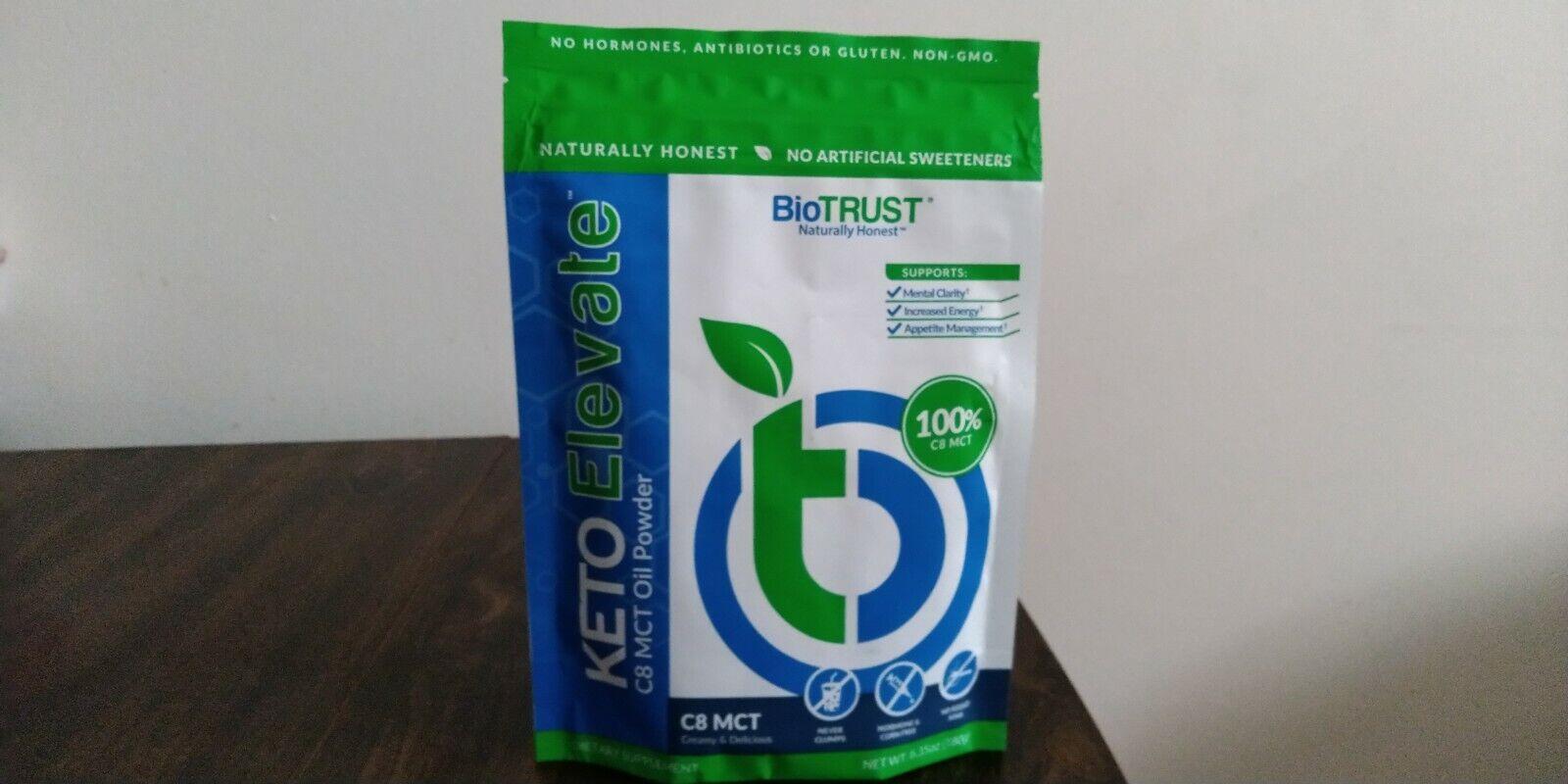 BioTRUST Keto Elevate 100% C8 MCT Oil Powder Creamy & Delicious Exp 06/22 : NEW