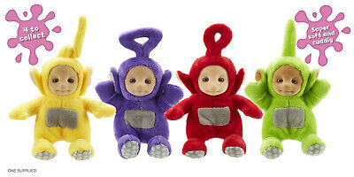 TELETUBBIES SUPERSOFT COLLECTABLE TOY - PO, LAA LAA, TINKY WINKY DIPSY NEW - Teletubbies Po
