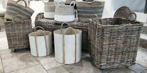 CANE BASKETS FOR STORAGE PLANTS DECORATIVE Bayview Pittwater Area Preview