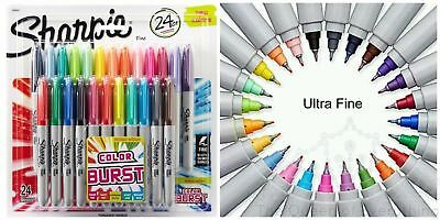 Sharpie 24 Assorted Fine Ultra Fine Tip Limited Edition Permanent Markers