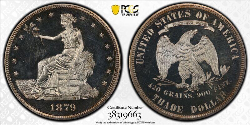 1879-P PCGS & CAC PR63CAM U.S. Trade Dollar