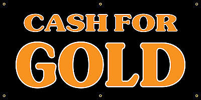 Cash For Gold Full Color Vinyl Banner. Ready To Use