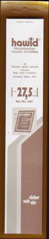 hawid Klemmtaschen  Streifen schwarz 210 mm lang für Markenhöhe 21 mm bis 55 mm 210 mm x 27,5 m